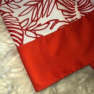 Orange and white Skater Skirt